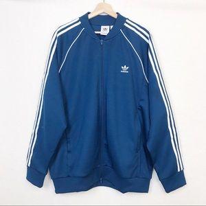 Adidas Men's SST Track Jacket Aqua Blue